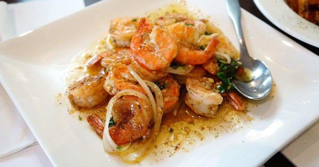 Garlic Shrimp With Spaghetti