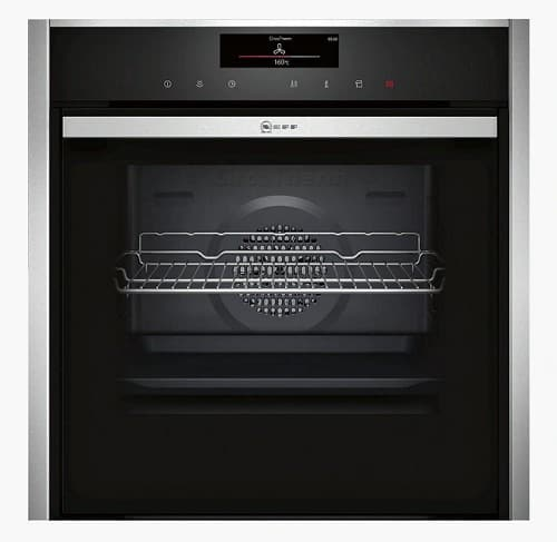 Neff B58VT68N0B VarioSteam® Pyrolytic Slide and Hide Single Electric Oven
