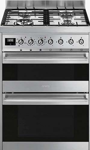 Smeg SY62MX9 Double Dual Fuel Cooker